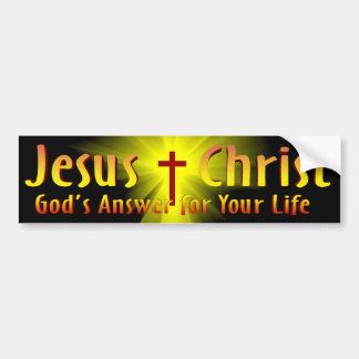 Jesucristo: La respuesta de dios Pegatina Para Auto