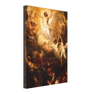 Jesucristo la resurrección lienzo envuelto para galerías