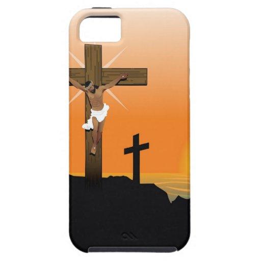 Jesucristo negro iPhone 5 Case-Mate protectores