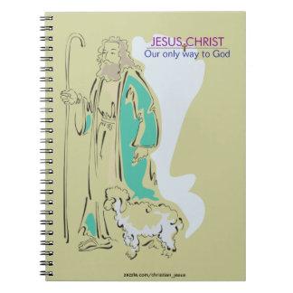 JESUCRISTO - NUESTRA SOLAMENTE MANERA A DIOS SPIRAL NOTEBOOKS