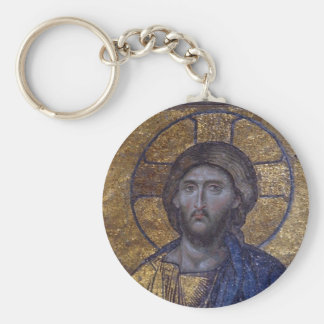 Jesucristo Pantocrator Llavero Redondo Tipo Pin
