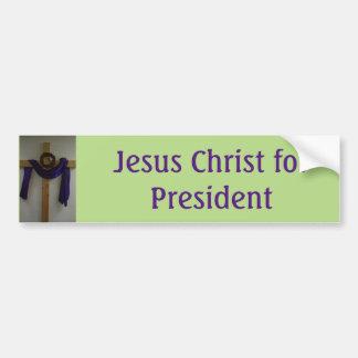 Jesucristo para la pegatina para el parachoques pegatina para auto