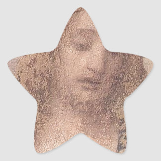 Jesucristo Pegatina En Forma De Estrella
