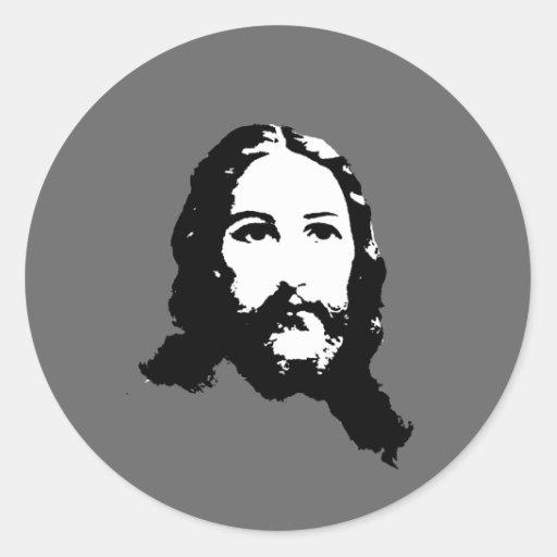 Jesucristo Pegatina Redonda