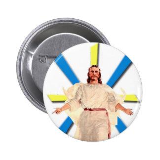 Jesucristo Pin Redondo De 2 Pulgadas
