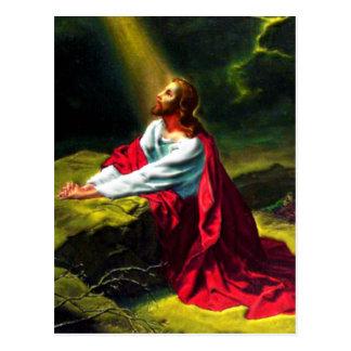 Jesucristo que ruega en el jardín de Gethsemane Postal