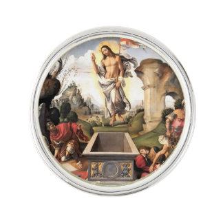 Jesucristo que sube sobre sepulcro pin