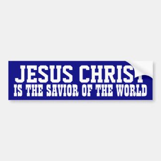 Jesucristo: Salvador Pegatina Para Auto