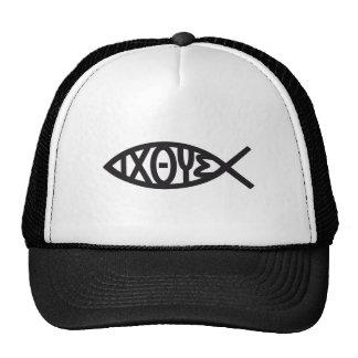 Jesucristo, símbolo cristiano de los pescados para gorros bordados