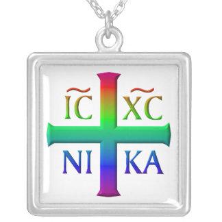 Jesucristo, símbolo del conquistador colgante cuadrado