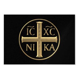 "Jesucristo ""tridimensional"" de oro: Conquista Invitación 3.5"" X 5"""