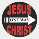 Jesucristo una manera etiquetas