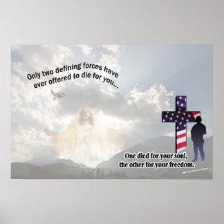 Jesucristo y el poster americano del soldado