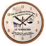 Jesucristo y el reloj grande del soldado americano