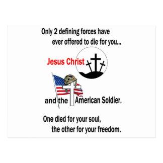 Jesucristo y el soldado americano postal