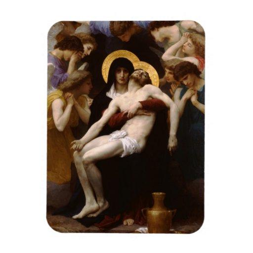 Jesucristo y Virgen María del pieta Imanes Rectangulares