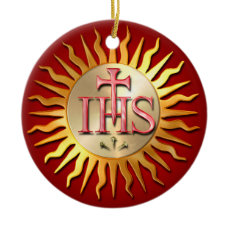 Jesuit Seal Ceramic Ornament
