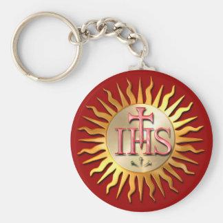 Jesuit Seal Basic Round Button Keychain