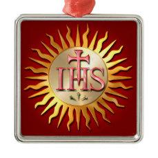 Jesuit Seal Metal Ornament