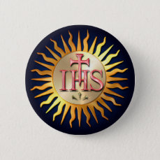 Jesuit Seal Pinback Button