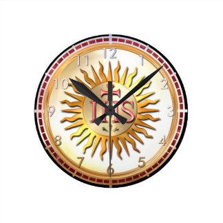 Jesuit Seal Round Clock