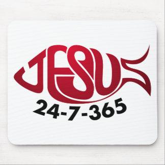 Jesus24-7-365 Mousepads