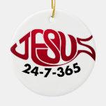 Jesus24-7-365 Ornament