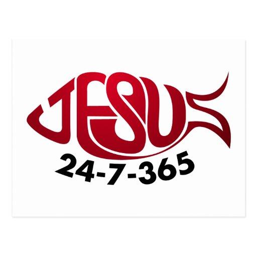 Jesus24-7-365 Postcard