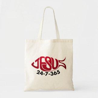 Jesus24-7-365 Tote Bag