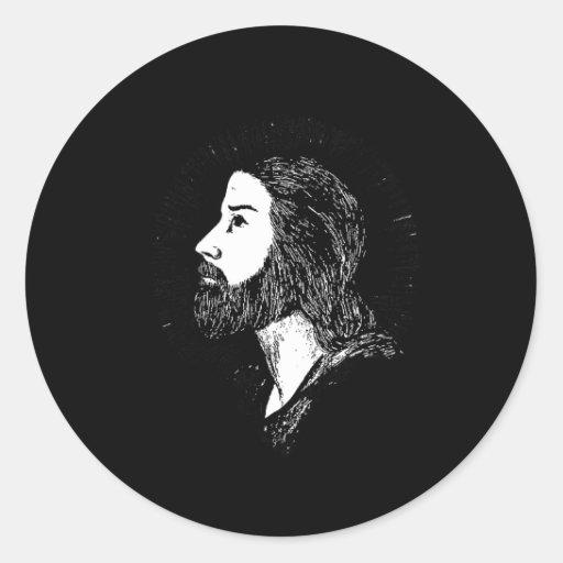 Jesús 1 pegatina redonda