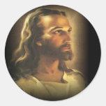 Jesus (1) round sticker