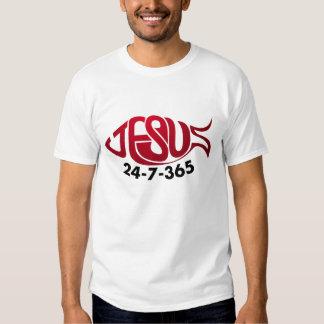 Jesus 24-7-365 t-shirt