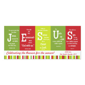 JESUS 2-Sided Scripture Christmas Card-Customize! Card