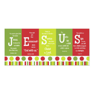 JESUS 2-Sided Scripture Verse Christmas Card Invitations