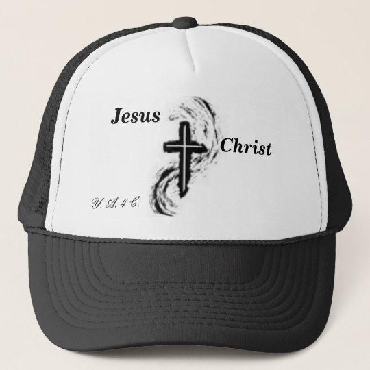 jesus 3, Jesus, Christ, Y. A. 4 C. Trucker Hat