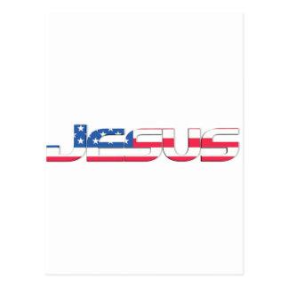 Jesús 3D americano Postal