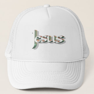 Jesus 3D Vert 3D Trucker Hat