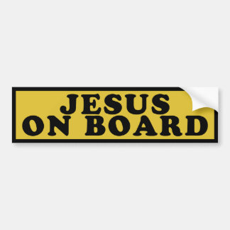 Jesús a bordo pegatina de parachoque