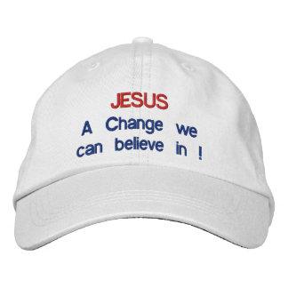 JESUS - A change we can believe in !Adjustable Hat
