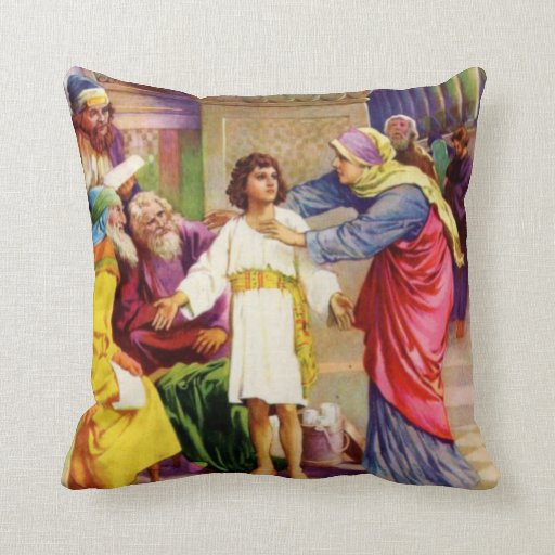 Jesus About his Father's Business Pillow