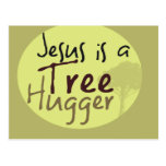 Jesús abraza árboles postal