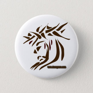 Jesus Abstract Pinback Button