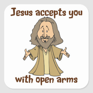 Jesus accepts you with open arms stickers
