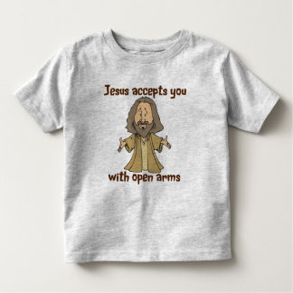 Jesus accepts you with open arms tee shirt