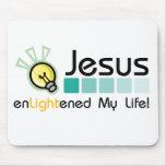 ¡Jesús aclaró mi vida! Mousepad Tapetes De Ratón