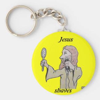 , Jesús, afeitados Llavero Redondo Tipo Pin