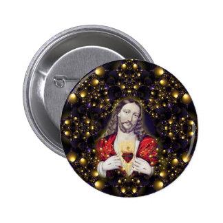 Jesús agradable en su sel múltiple casero de los p pin redondo de 2 pulgadas