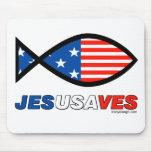 Jesús ahorra alfombrilla de ratón