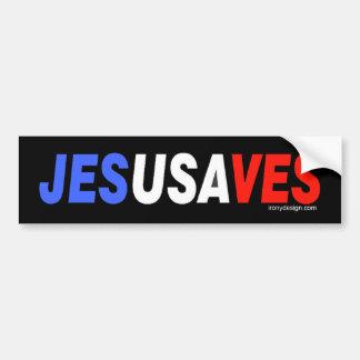 Jesús ahorra Bumperstickers Pegatina Para Auto
