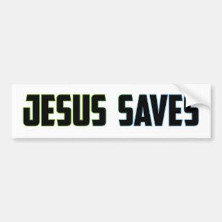Jesús ahorra etiqueta de parachoque
